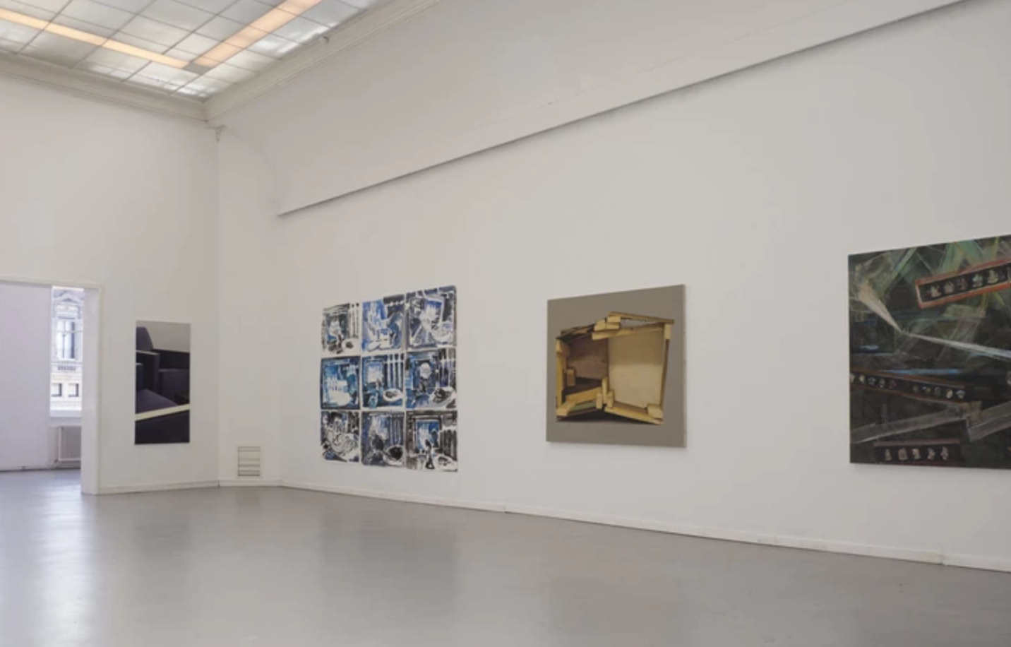 Installation view: Arnout Killian, Frenk Meeuwsen, Andre Roiter, Roger Cremers