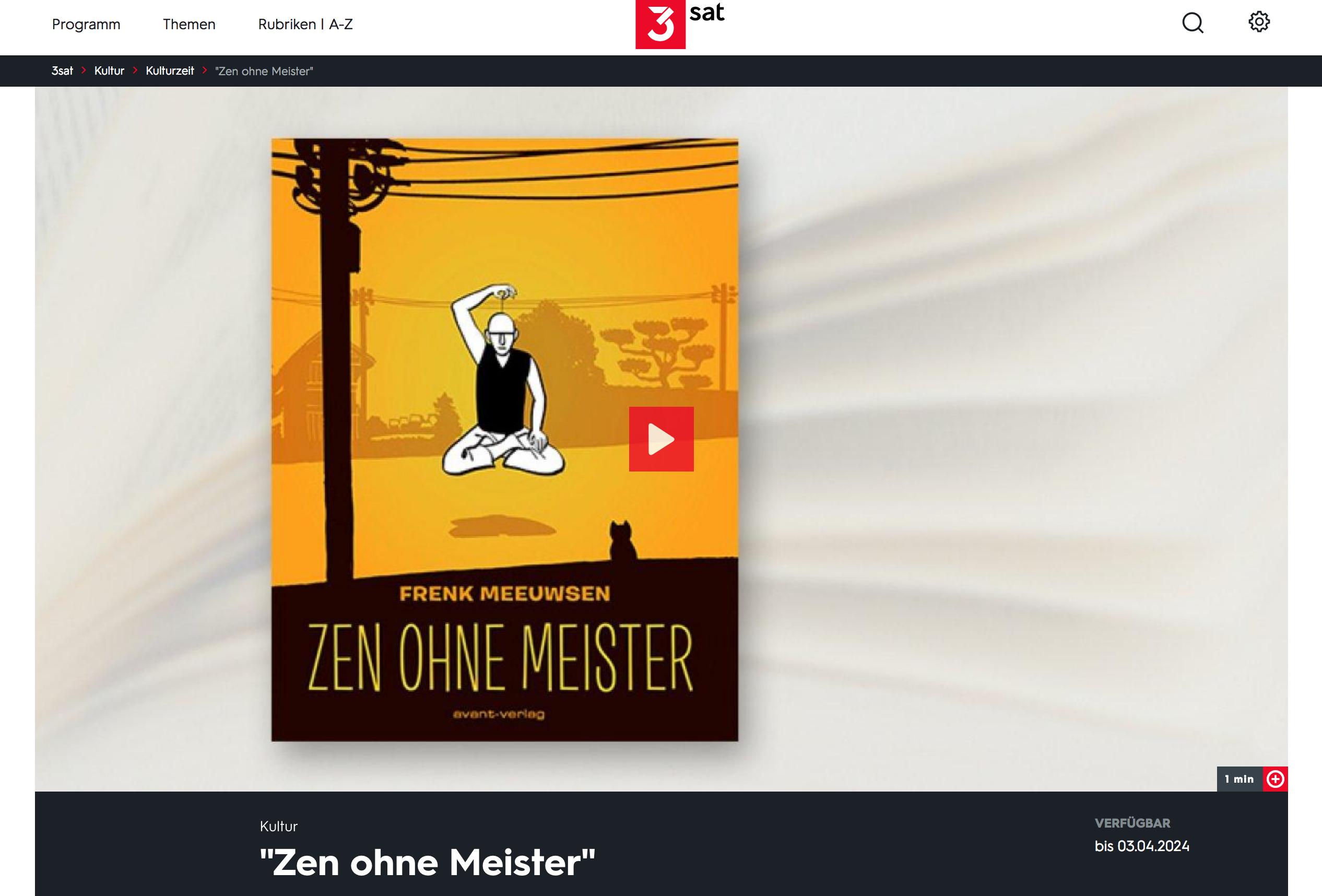 ZEN ZONDER MEESTER OP Kulturzeit-Comicbuchtipp (video link)