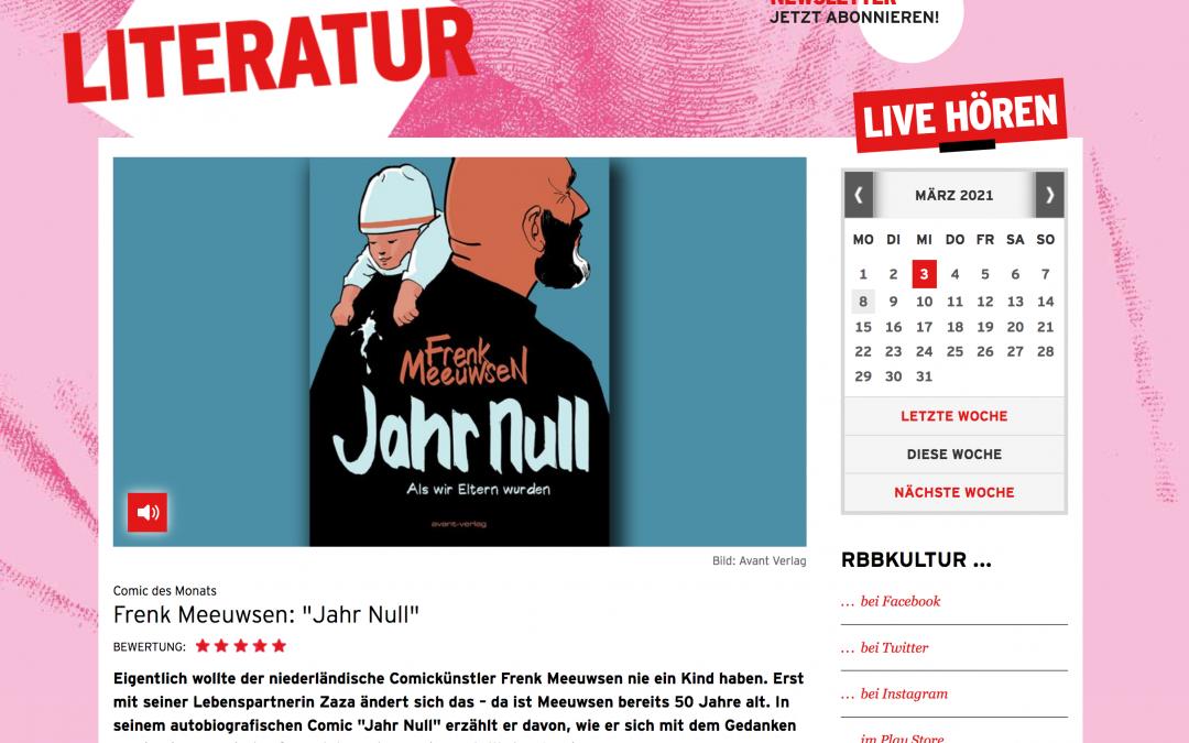 """RBB Kultur Comic des Monats Frenk Meeuwsen: """"Jahr Null"""""""