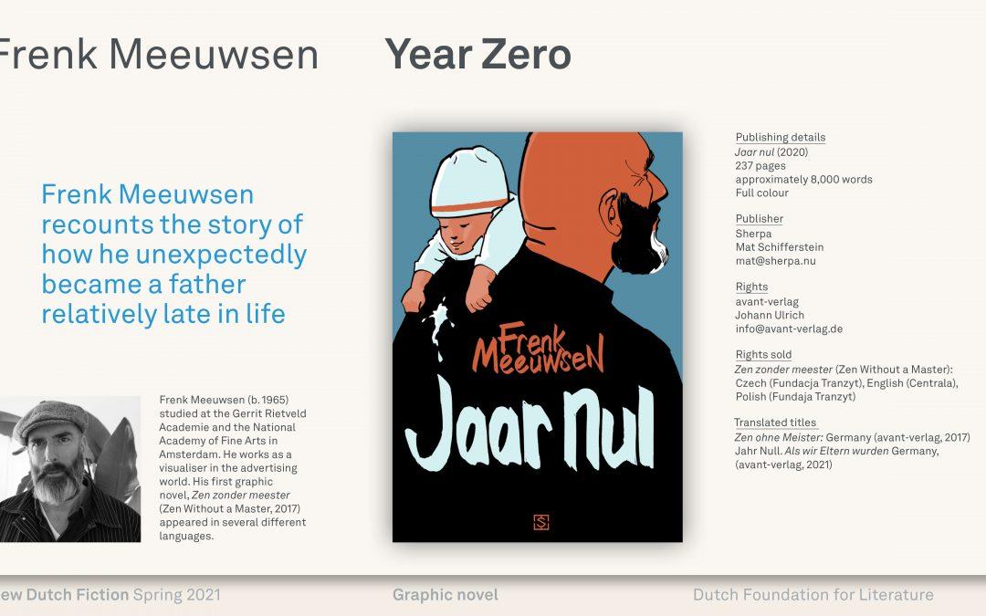 Nederlands Letteren Fonds New Dutch Fiction – Spring 2021